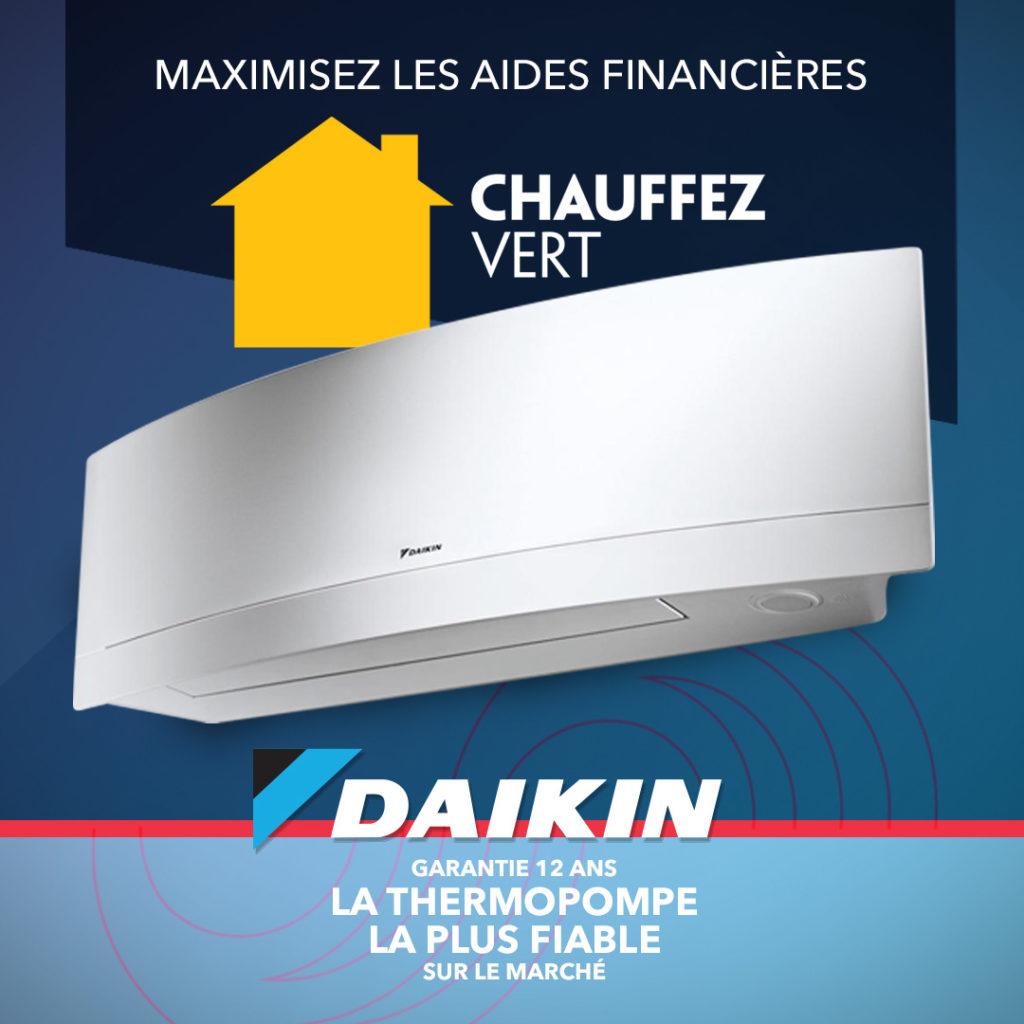 Promotion : Subventions provinciale et fédérale - Daikin