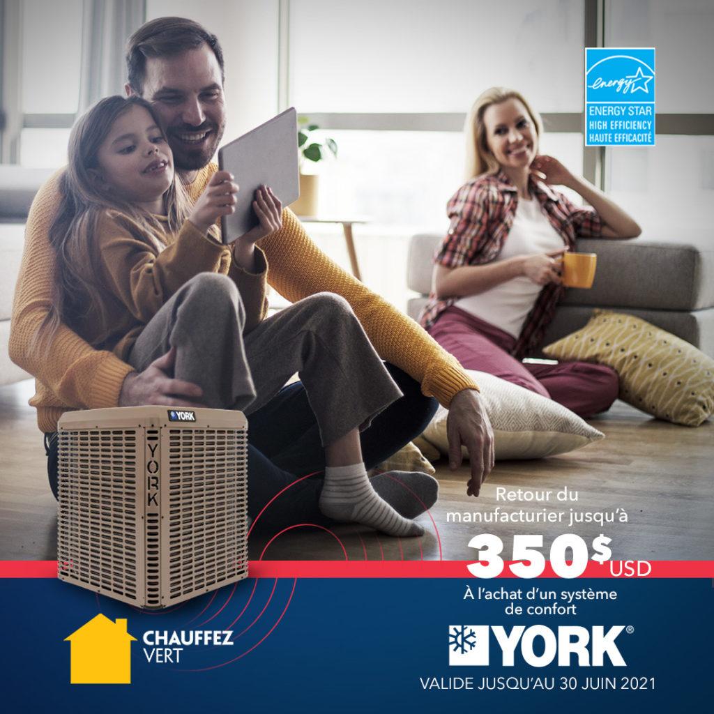 Promotion : Rabais consommateur York - Printemps 2021